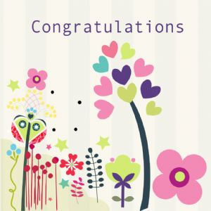 Congratulations Card - White